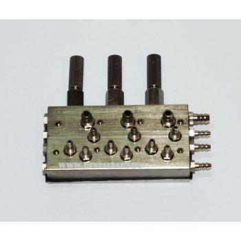 Распределительный клапан на 3 инструмента