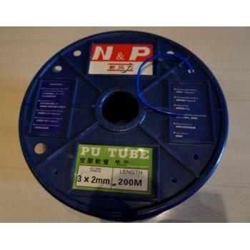 Трубка полиуретановая высокого давления ø4х6мм, синий, белый